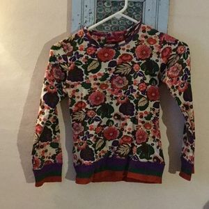 Kids oilily floral long sleeve shirt.